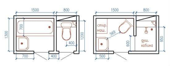 Объединение санузла с частичным сносом перегородки