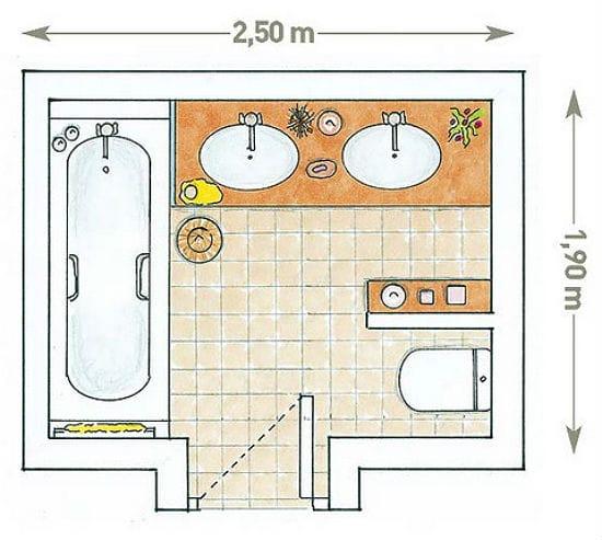 Установка перегородки для зонирования санузла