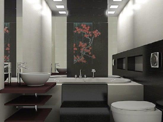 Совмещенный санузел в японском стиле