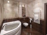 Планировка санузла с угловой ванной