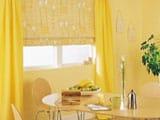 Варианты желтых обоев для стен, фото в интерьере