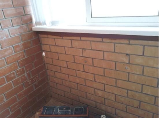 Утепление и усиление парапета балкона кирпичом