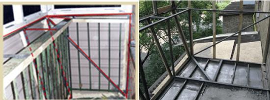 Усиление балкона металлическим уголком