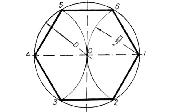 План основания шестигранной каменной беседки