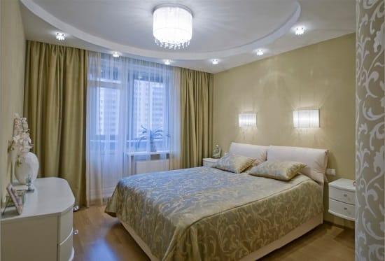 Установка прикроватных бра в маленькой спальне