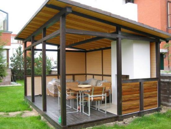 Крыша-навес для односкатной беседки