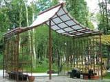 Деревянные и металлические беседки с поликарбонатом