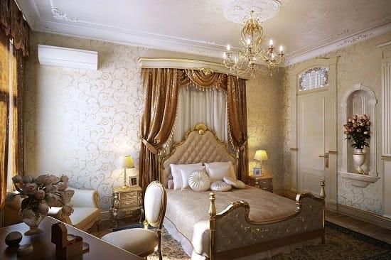 Классический итальянский стиль в меблировке спальни