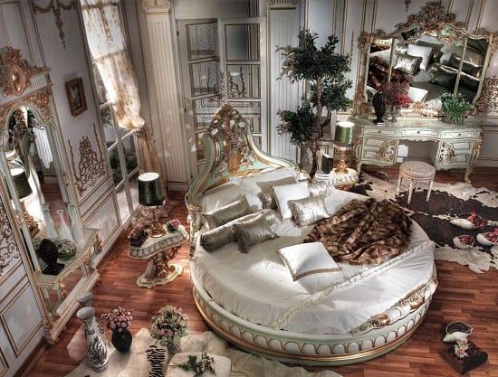 Роскошная мебель с круглой кроватью для спальни