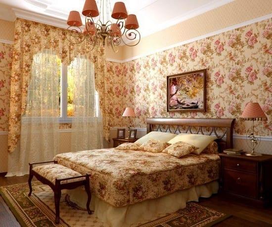 Выбор мебели в кантри стиле для оформления интерьера спальни