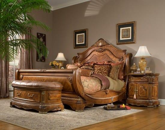 Оригинальный комплект мебели из натурального дуба для спальни