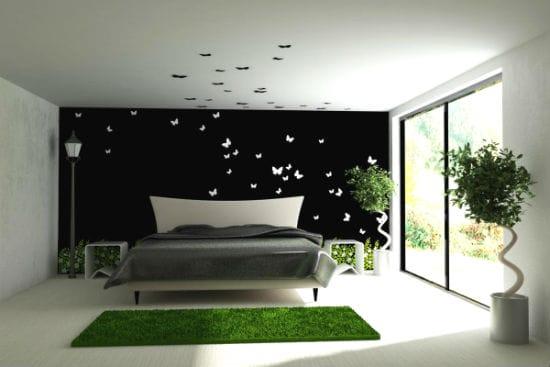 Стильный дизайн кровати на высоких ножках в спальне
