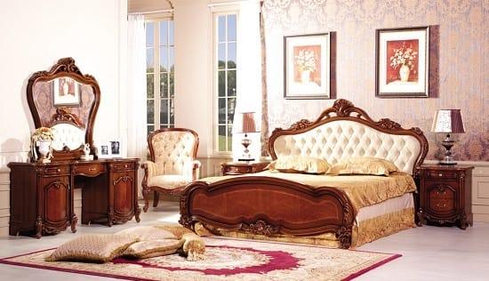 Комплект мебели в классическом стиле из шпонированного МДФ для спальни