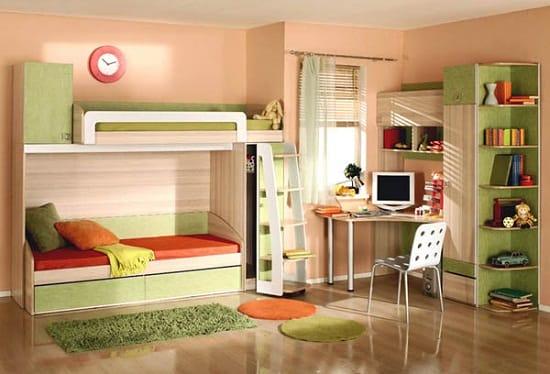 Мебель «Три Я» с двухъярусной кроватью в спальне мальчиков