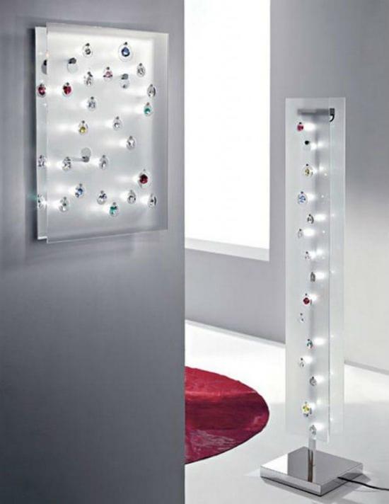 Оригинальные настенный и напольный светильники от дизайнера Франческо Луккезе в спальню