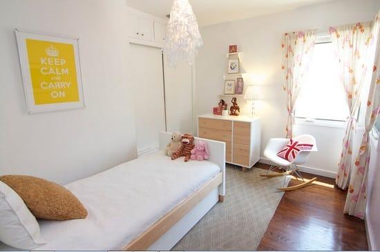 Нежная спальня в белом цвете для девочки