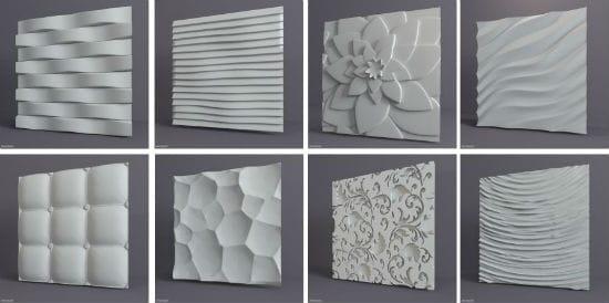 Виды панелей для оформления стены спальни