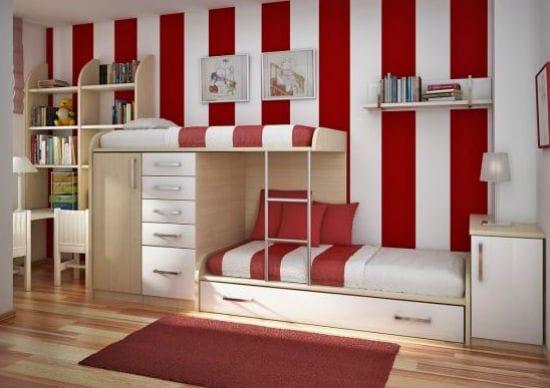 Идея установки двухярусной кровати в детской спальне