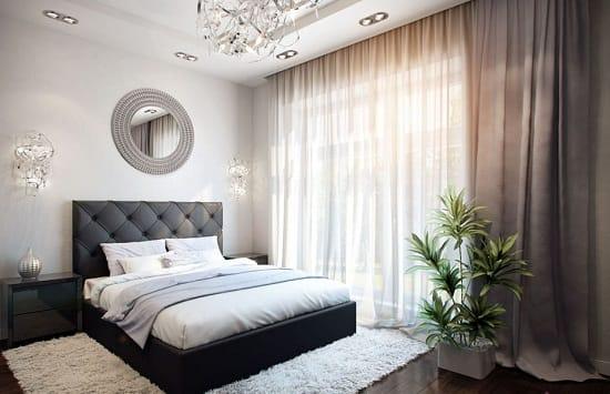 Красивая светлая спальня после евроремонта