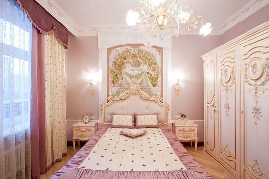 Интерьер детской спальни для девочки в классическом стиле