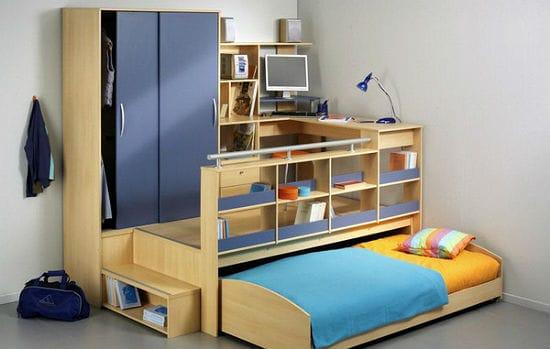 Компактная мебель трансформер для установки в подростковую спальню