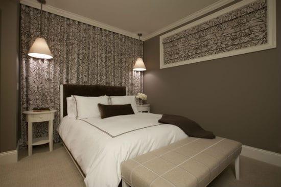 Освещение спальни при помощи люстр-подвесов