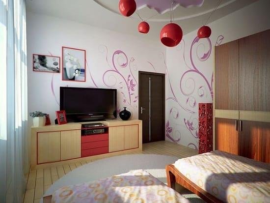 Пример оформления спальни для девочки в стиле модерн