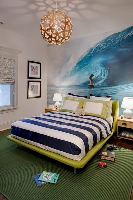 Ремонт спальни с морским дизайном