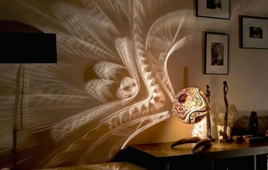 Красивый ночник для освещения спальни в темное время суток
