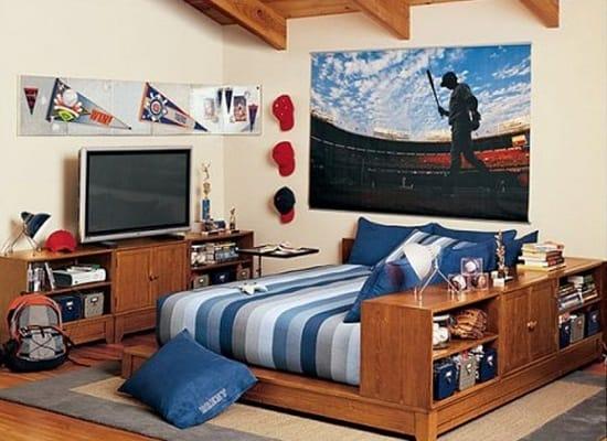Спортивная тема в создании дизайна спальни для мальчика подростка