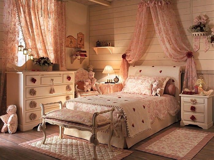 Дизайн спальни для девочки с отделкой в стиле прованс