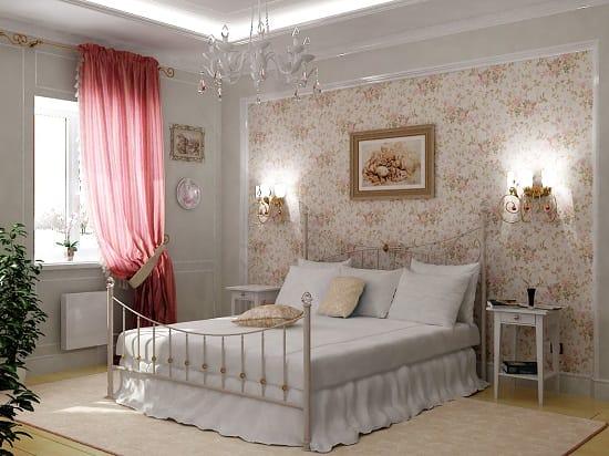 Создание стиля прованс во время ремонта спальни