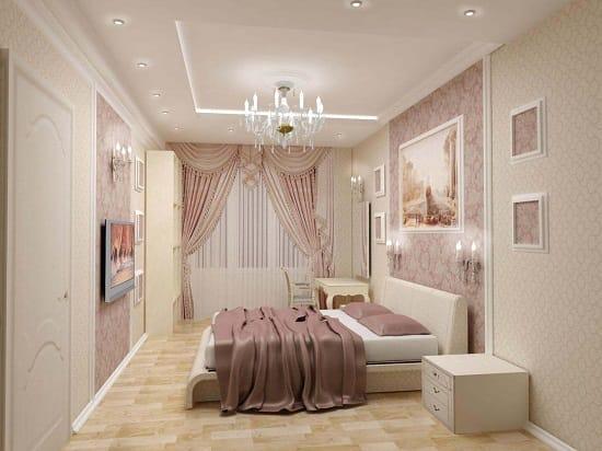 Классический стиль спальни 12 кв. м. после ремонта