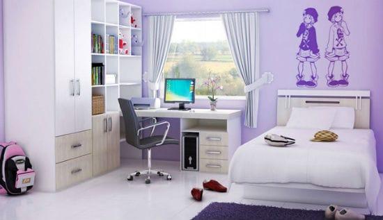Правильное расположение рабочего стола в спальне подростка