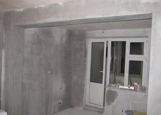 Черновые работы по подготовке стен спальни к ремонту