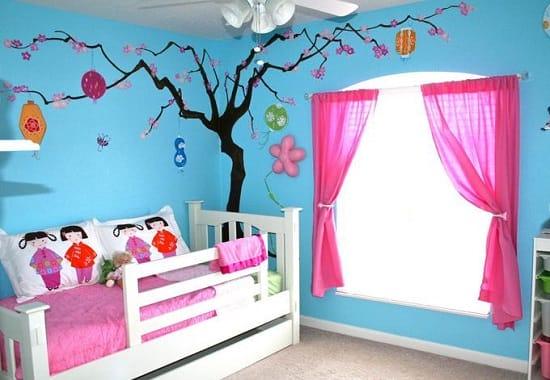 Создание интерьера в японском стиле спальни для девочки