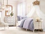 Кровать с белоснежным балдахином в спальне девочки