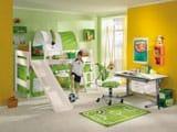 Дизай спальни с рабочим местом для мальчика