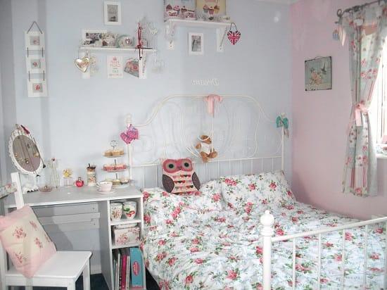 Декорирование малогабаритной спальни в стиле шебби шик